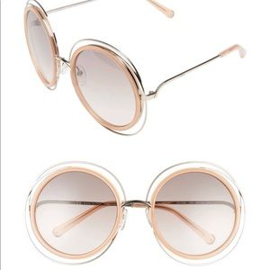 Chloe Carlina Sunglasses in Pink
